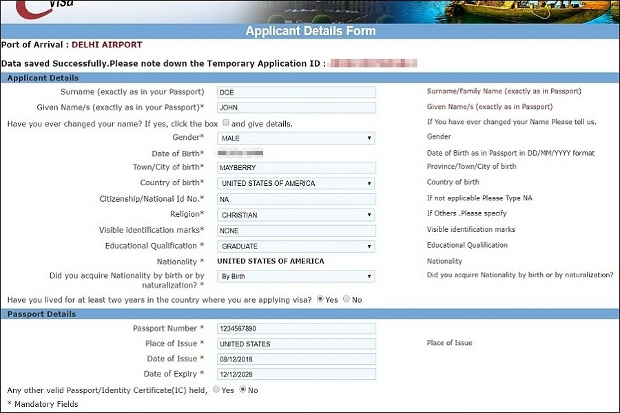 India eVisa application guide and steps on page 2