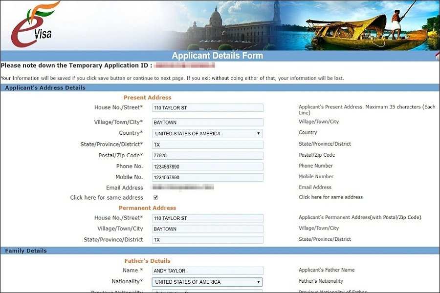 India eVisa application guide and steps on page 3