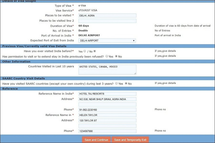 India eVisa application guide and steps on page 4