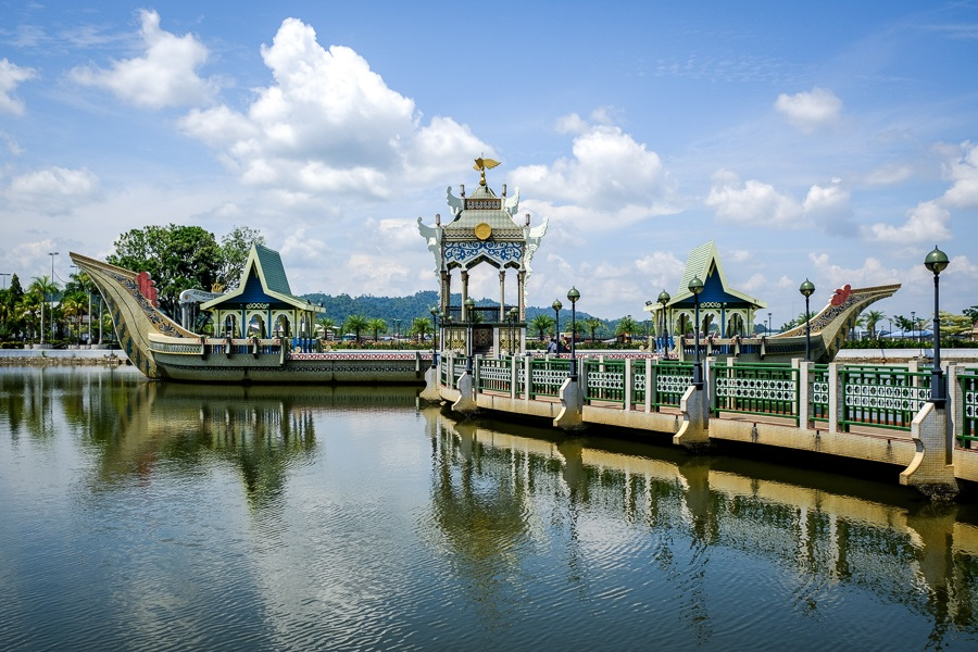 Water barge at the Sultan Omar Ali Saifuddien Mosque in Brunei