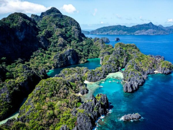 El Nido Tour A drone picture in Palawan Philippines