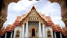 Wat Benchamabophit The Marble Temple In Bangkok Thailand