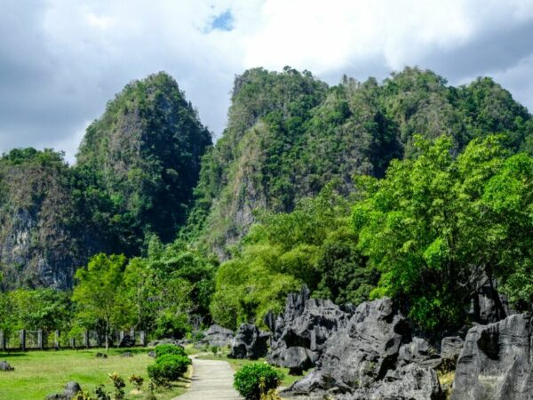 Leang Leang Maros in Sulawesi Indonesia