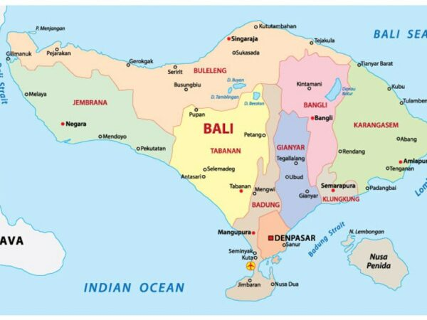Bali Map Where Is Bali Island Indonesia On The World Map For Tourists