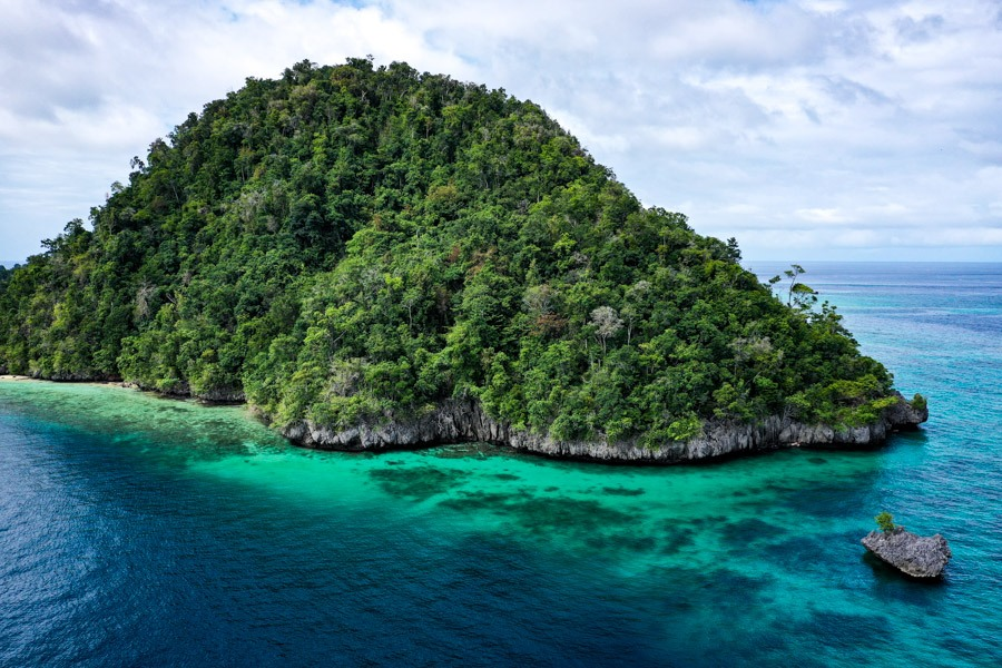 Sulawesi tropical drone picture